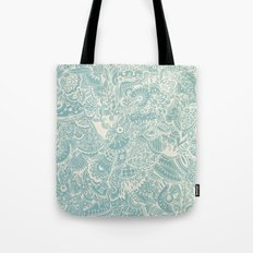 Detailed rectangle, light blue  Tote Bag