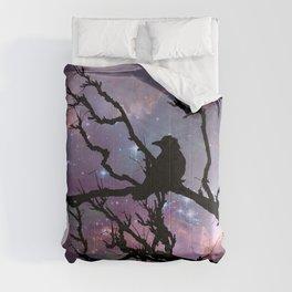 Surreal Black Bird Crow Stars Night Moon Art A492 Comforters