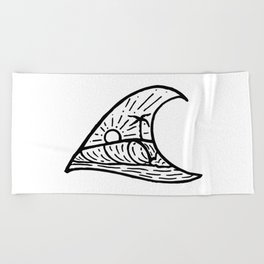 Wave in a Wave Beach Towel