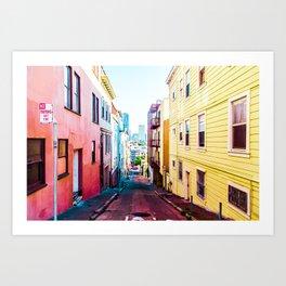 Colorful San Francisco 4 Art Print