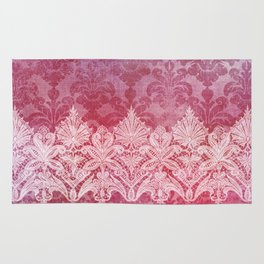 ABERDEEN HEIRLOOM, LACE & DAMASK: REBECCA'S RED Rug