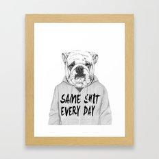 Same shit... Framed Art Print