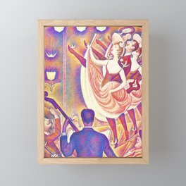 Georges Seurat - The Rumpus - Digital Remastered Edition Framed Mini Art Print