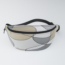 ABSTRACT CURVES #1 (Grays & Beiges) Fanny Pack