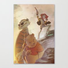 Cowboys, Tigers and Bears Canvas Print