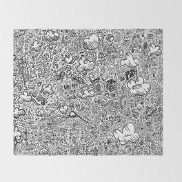 Crazy doodles Throw Blanket