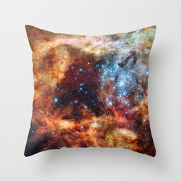 Grand star-forming region R136 in NGC 2070 captured by the Hubble Space Telescope Throw Pillow