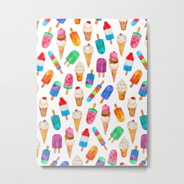 Summer Pops and Ice Cream Dreams Metal Print