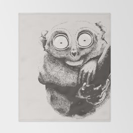 Tarsier Throw Blanket