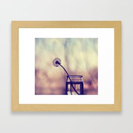 dandelion morning Framed Art Print