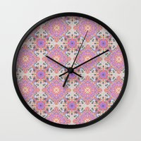 moroccan Wall Clocks featuring Faded Moroccan by k_c_s