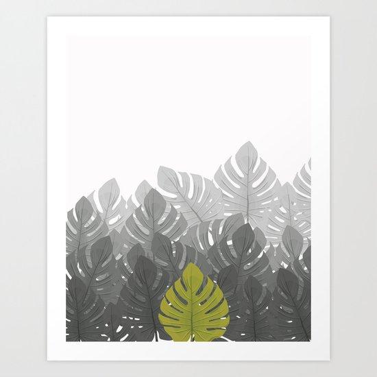 Tropical leaves 03 Art Print
