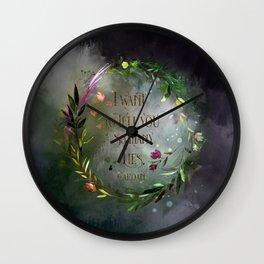 I want to tell you so many lies. Cardan Wall Clock