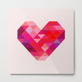 Prism Heart Metal Print