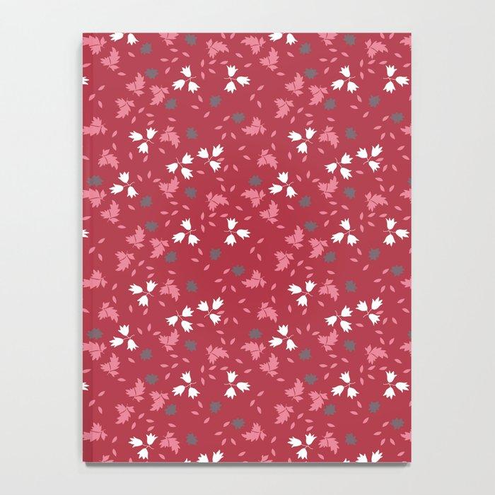Deep red floral bandana print Notebook