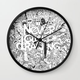 Doddle | Never Quit Drawing Wall Clock