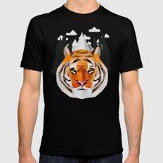 The Siberian Tiger Mens Fitted Tee MEDIUM Black