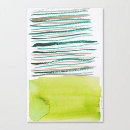 28   |181026 Lines & Color Block | Watercolor Abstract | Modern Watercolor Art Canvas Print