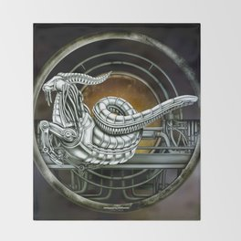 """Astrological Mechanism - Capricornus"" Throw Blanket"
