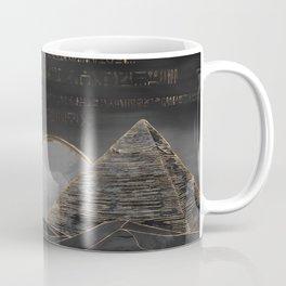 Egyptian Pyramids Abstract Watercolor and Gold Coffee Mug