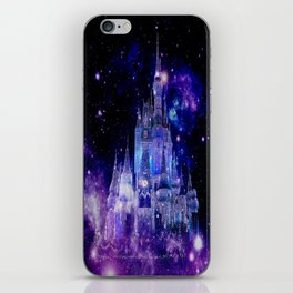 Celestial Palace : Purple Blue Enchanted Castle iPhone Skin