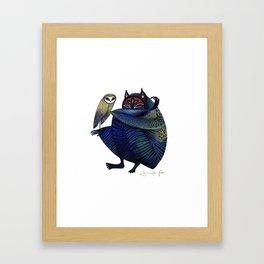 Owl & Spirit Framed Art Print