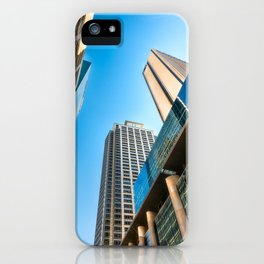 Low angle view perspective on Pitt Street in Sydney iPhone Case