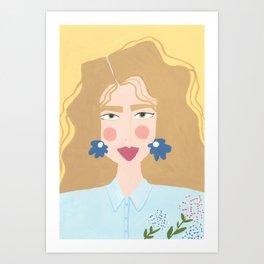 "Portrait Of Lilly - ""Floral Rhapsody"" Series Art Print"