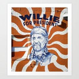 Willie For President Kunstdrucke
