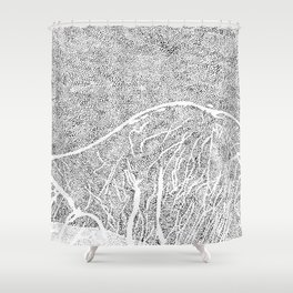 mountain L1 Shower Curtain