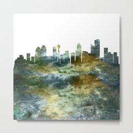 Calgary City Skyline Canada Metal Print