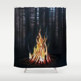Campfie Strories Shower Curtain