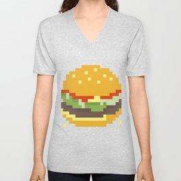 Pixel Burger Unisex V-Neck