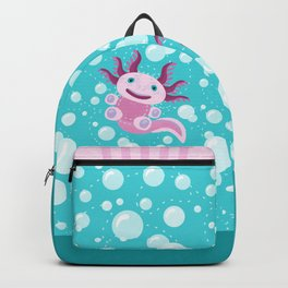 Toy Axolotl and The Bubbles Backpack