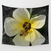 bee Wall Tapestries featuring Bee by Lia Bernini
