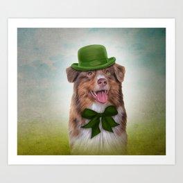 Dog breed Australian Shepherd, Aussie Art Print