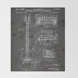 Gibson Guitar Patent - Les Paul Guitar Art - Black Chalkboard Decke