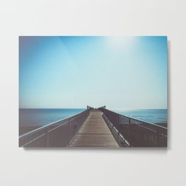 boardwalk leading into the great lakes Metal Print