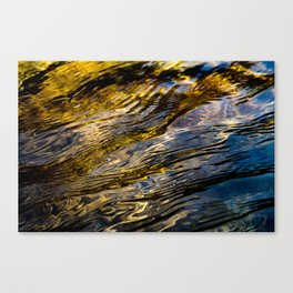 River Ripples in Copper Gold and Brown Canvas Print