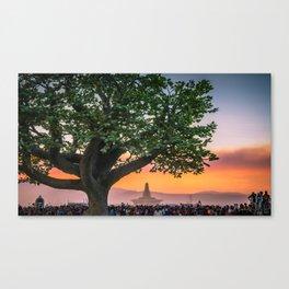 Tree of Ténéré with Temple Canvas Print