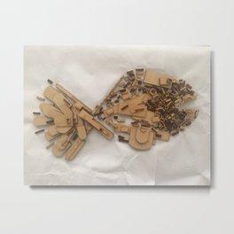 Wood Fish Metal Print