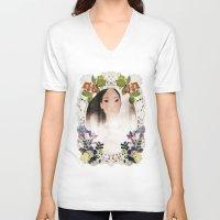 pocahontas V-neck T-shirts featuring Disney: POCAHONTAS  by AlyBee