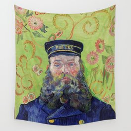 Vincent Van Gogh Postman Portrait Of Joseph Roulin Wall Tapestry