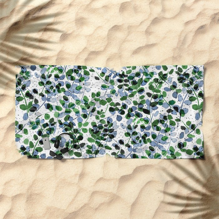 Synergy Blue and Green Beach Towel