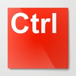 CTRL Metal Print