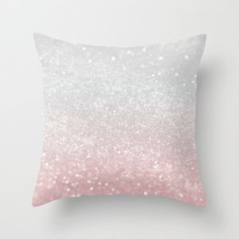Blush Gray Princess Glitter #1 (Faux Glitter - Photography) #shiny #decor #art #society6 Throw Pillow