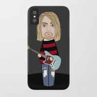 kurt cobain iPhone & iPod Cases featuring Kokeshi Kurt by Pendientera