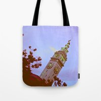 clockwork Tote Bags featuring clockwork  by lizbee