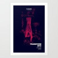human Art Prints featuring Human by Frank Moth