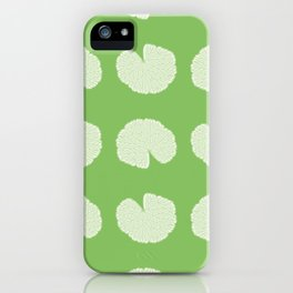 Garden Geranium Leaf Pattern iPhone Case